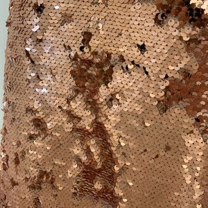 Forever 21 Dresses - Rose Gold Sequin Mini Dress